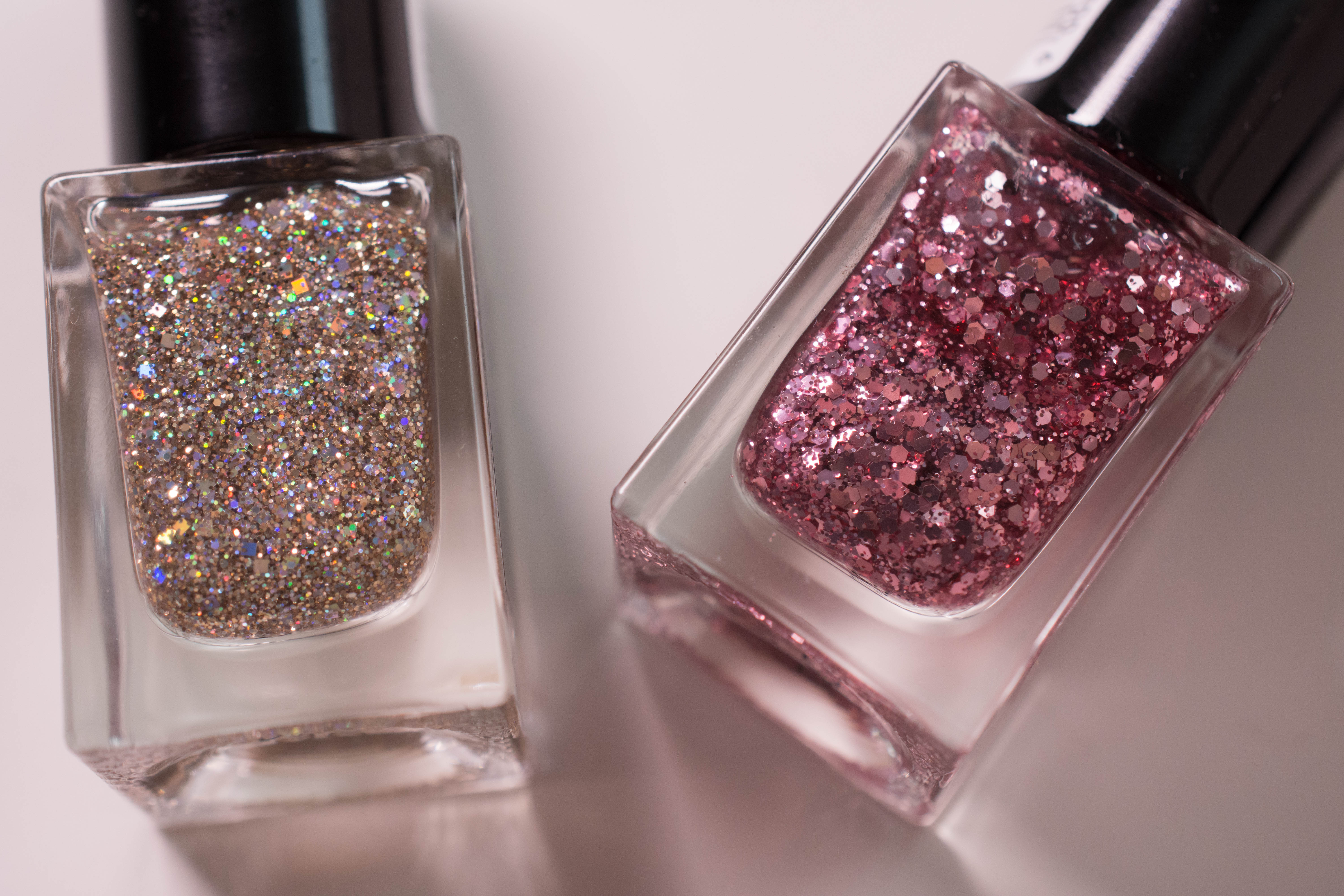 """""""I love my P2 collection"""" glint top coat in """"One miracle"""" and """"Shining Star"""""""