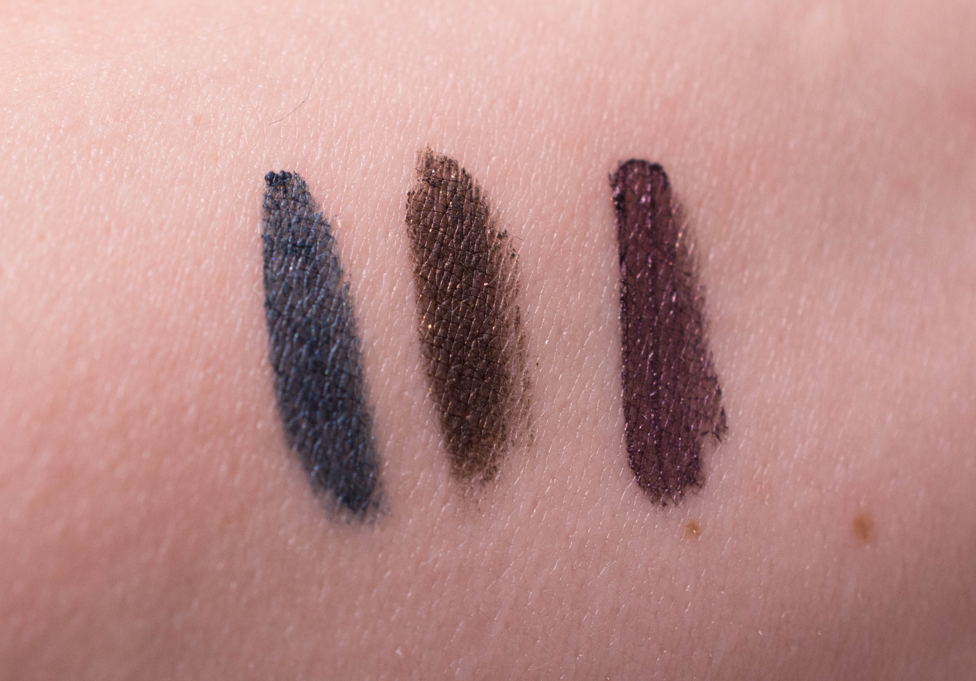 Left to right: Midnight Blues, Avenue, Macroviolet