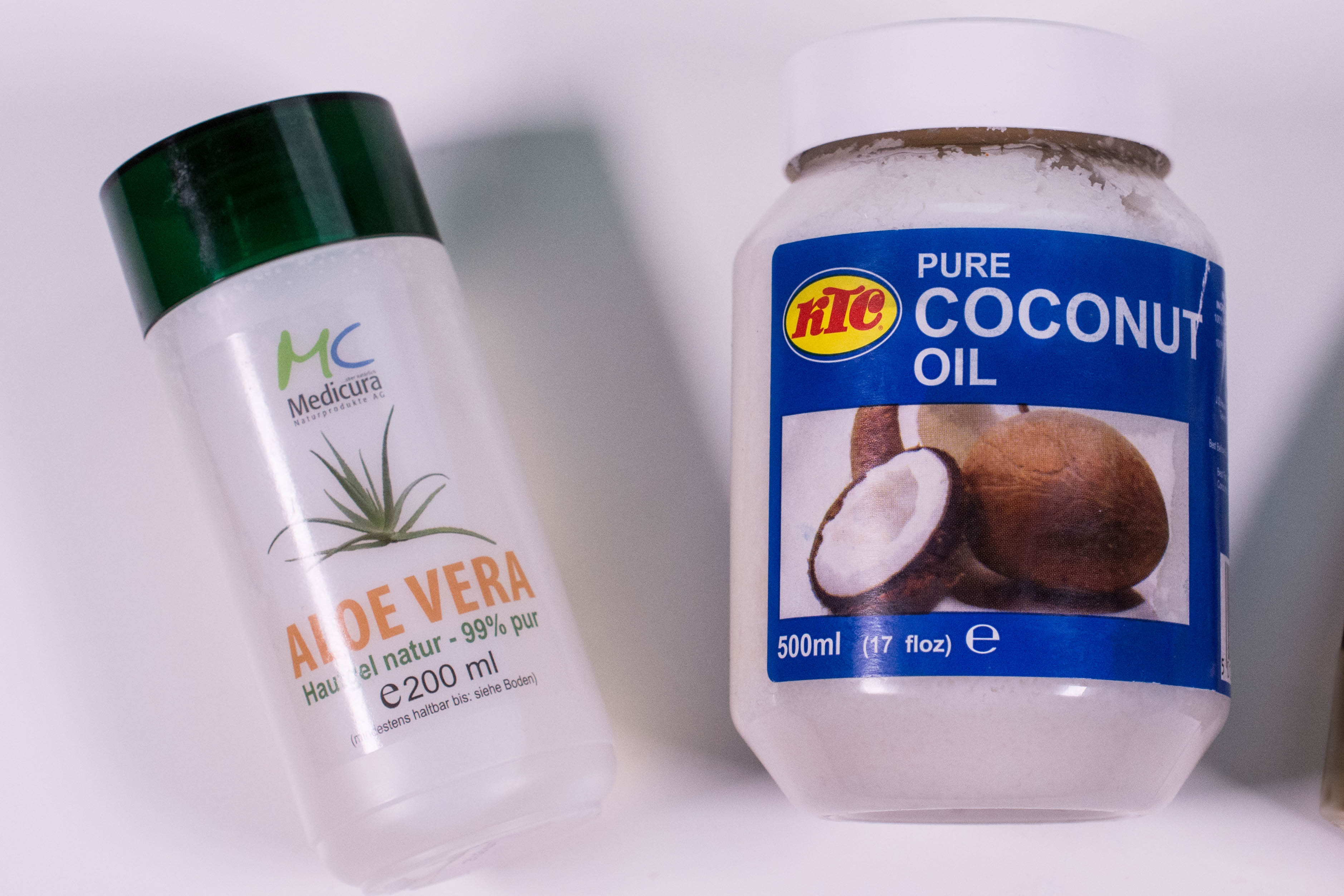 Aloe and coconut, with a little bit of olive oil for good measure