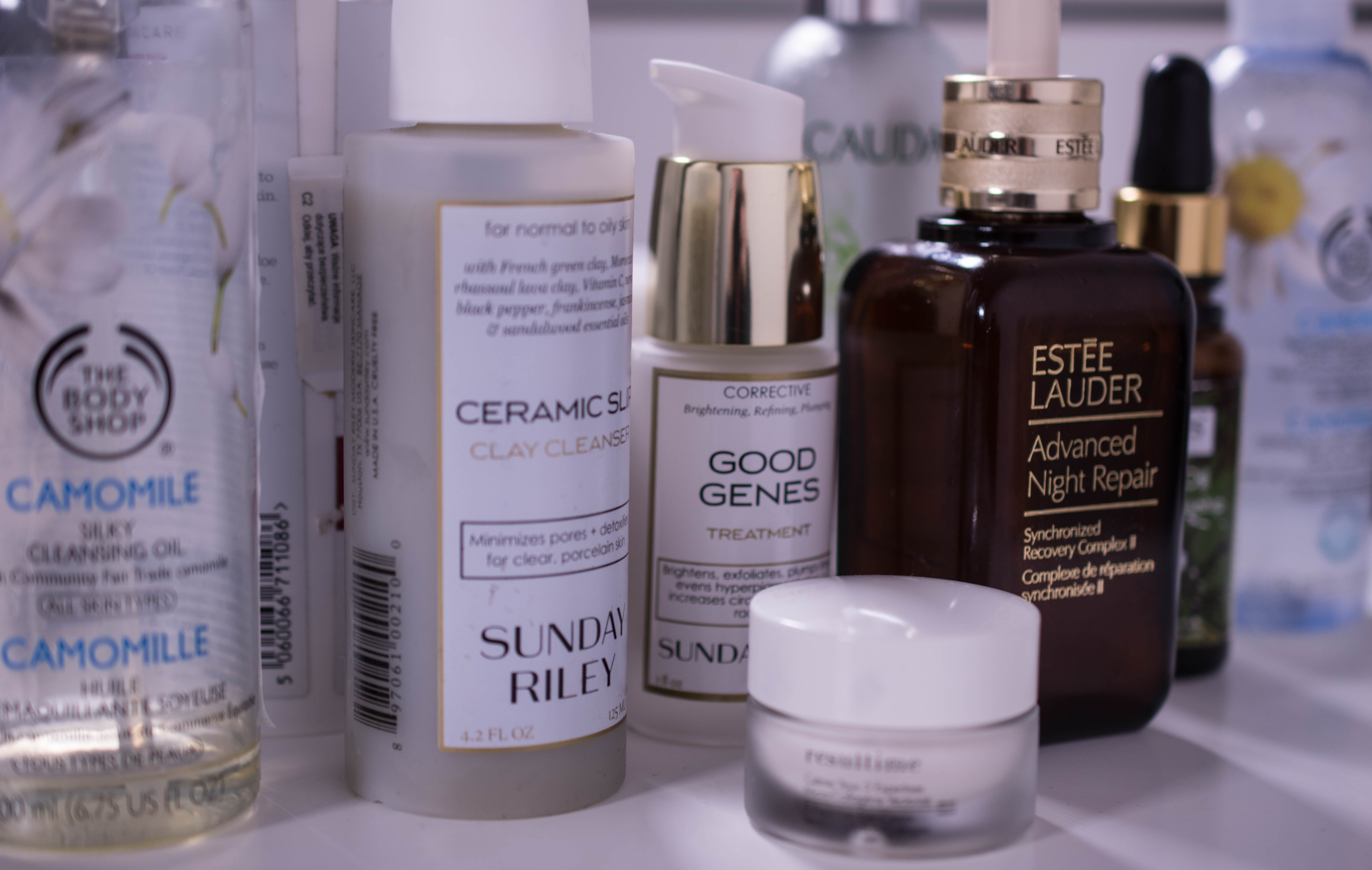 Evening skincare routine winter 2016 - some of the products