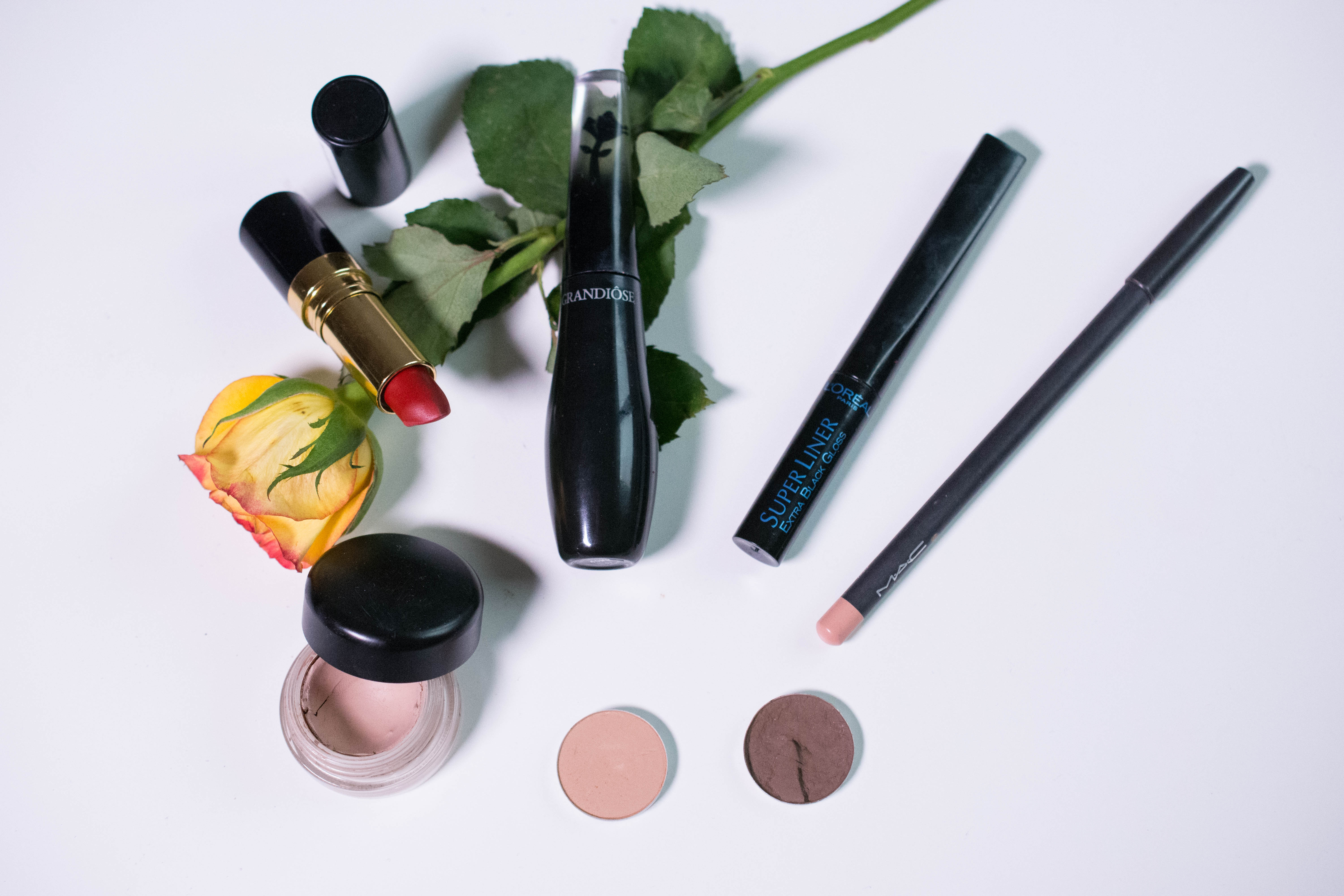 Products used on eyes and lips