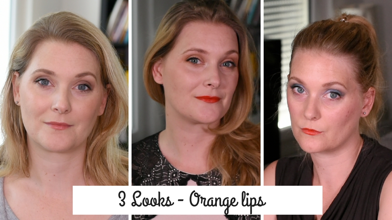 How to wear orange lips - three different options