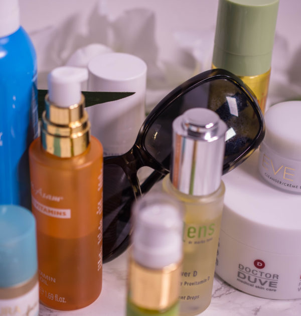 Whats in my travel skincare bag
