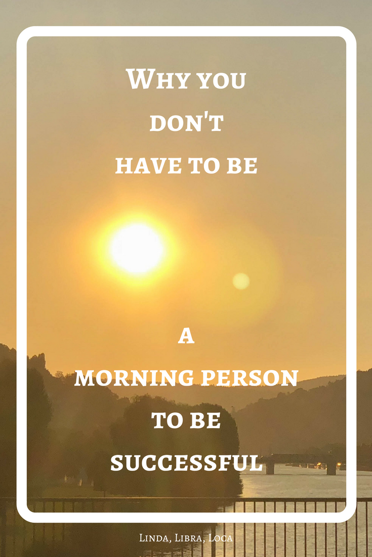 Morning person more successful