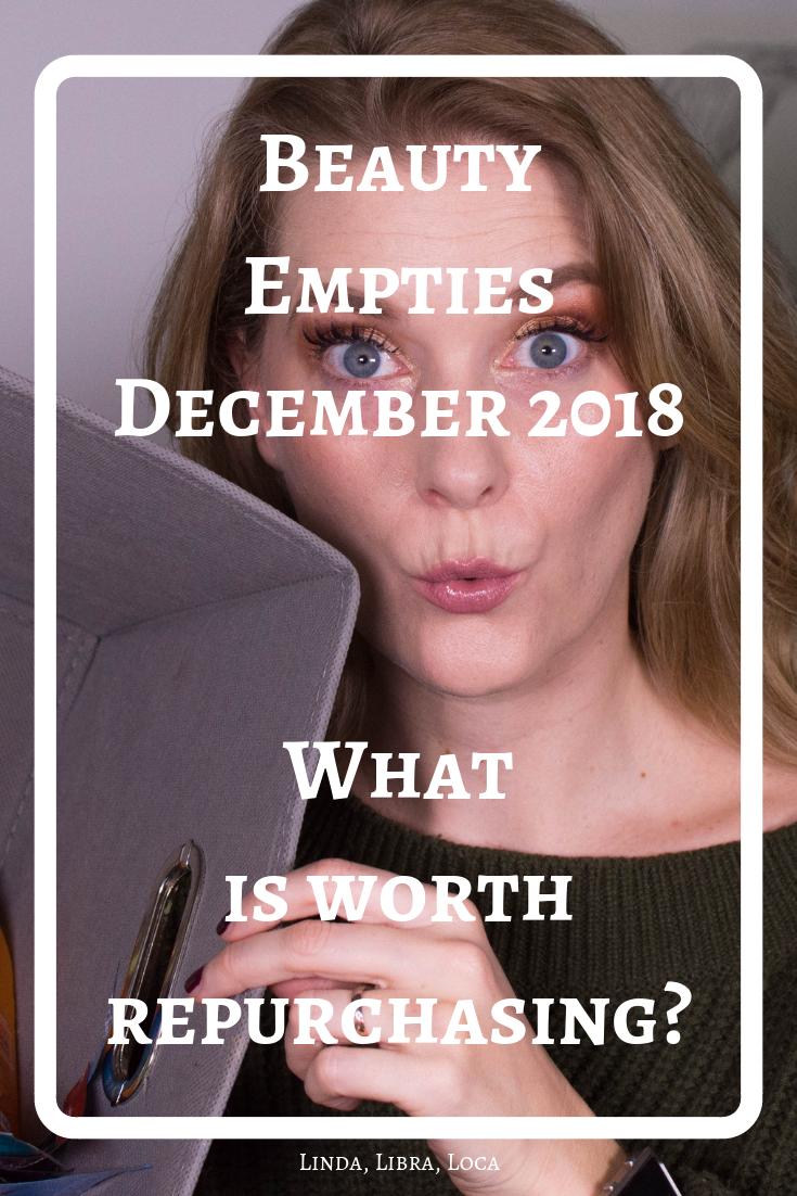 December Empties 2018