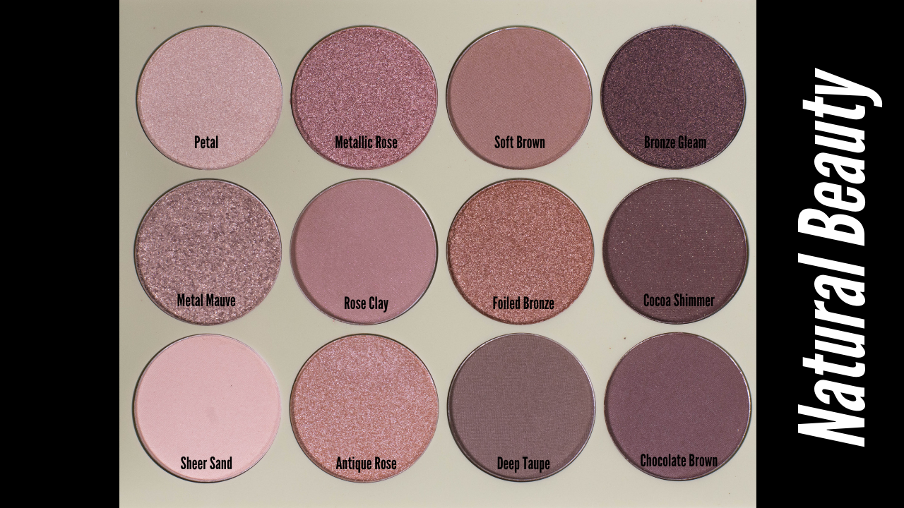 pixi Eyeshadow Palette Natural Beauty Shade Names