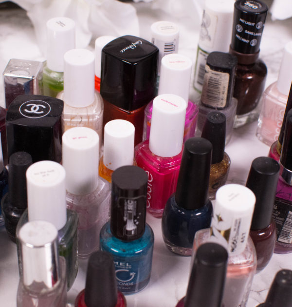 Decluttering my nail polish collection
