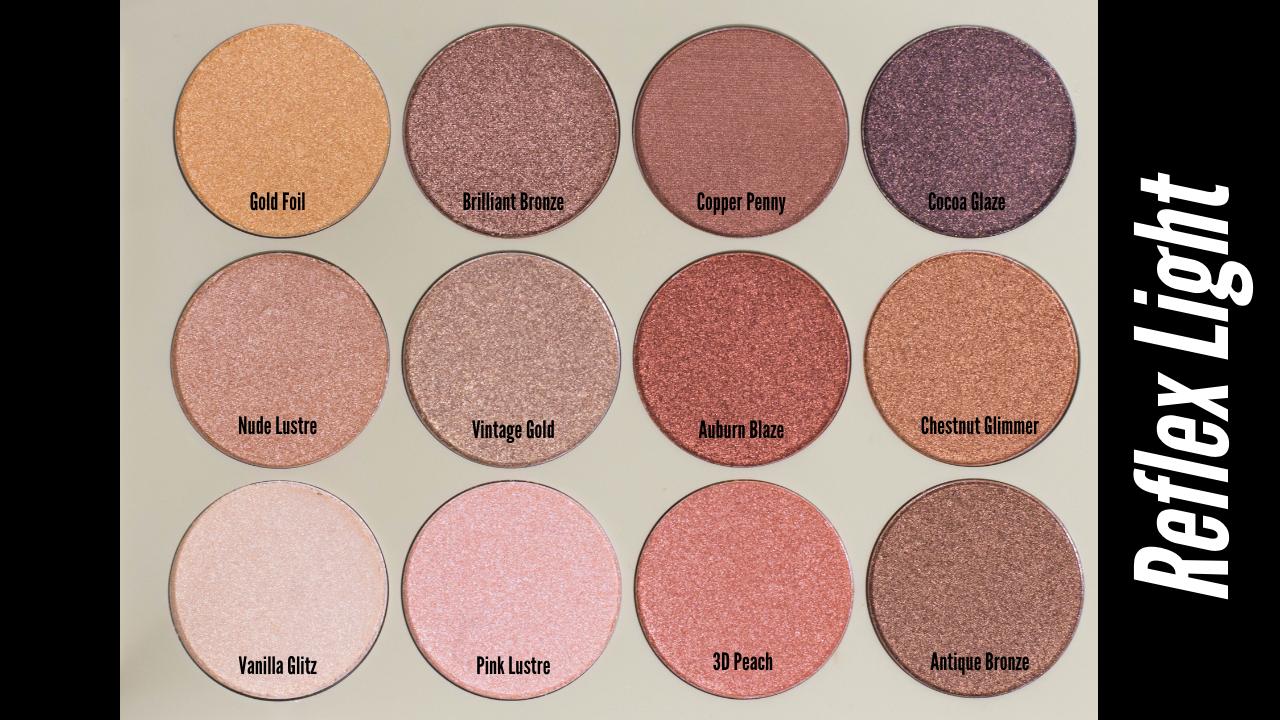 pixi Eyeshadow Palette Reflex Light Shade Names