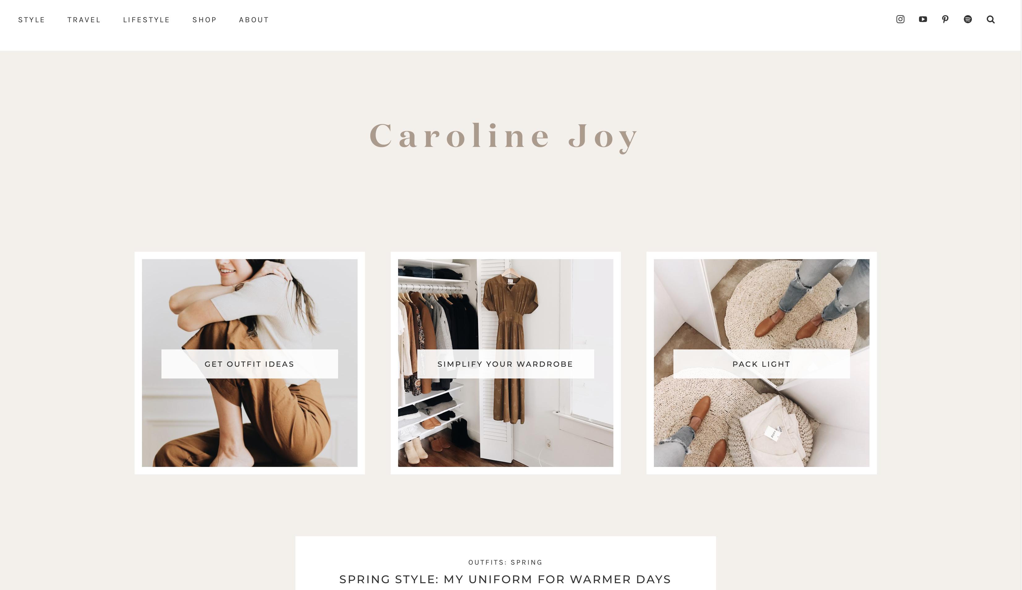 Un-Fancy, the blog by Caroline Joy