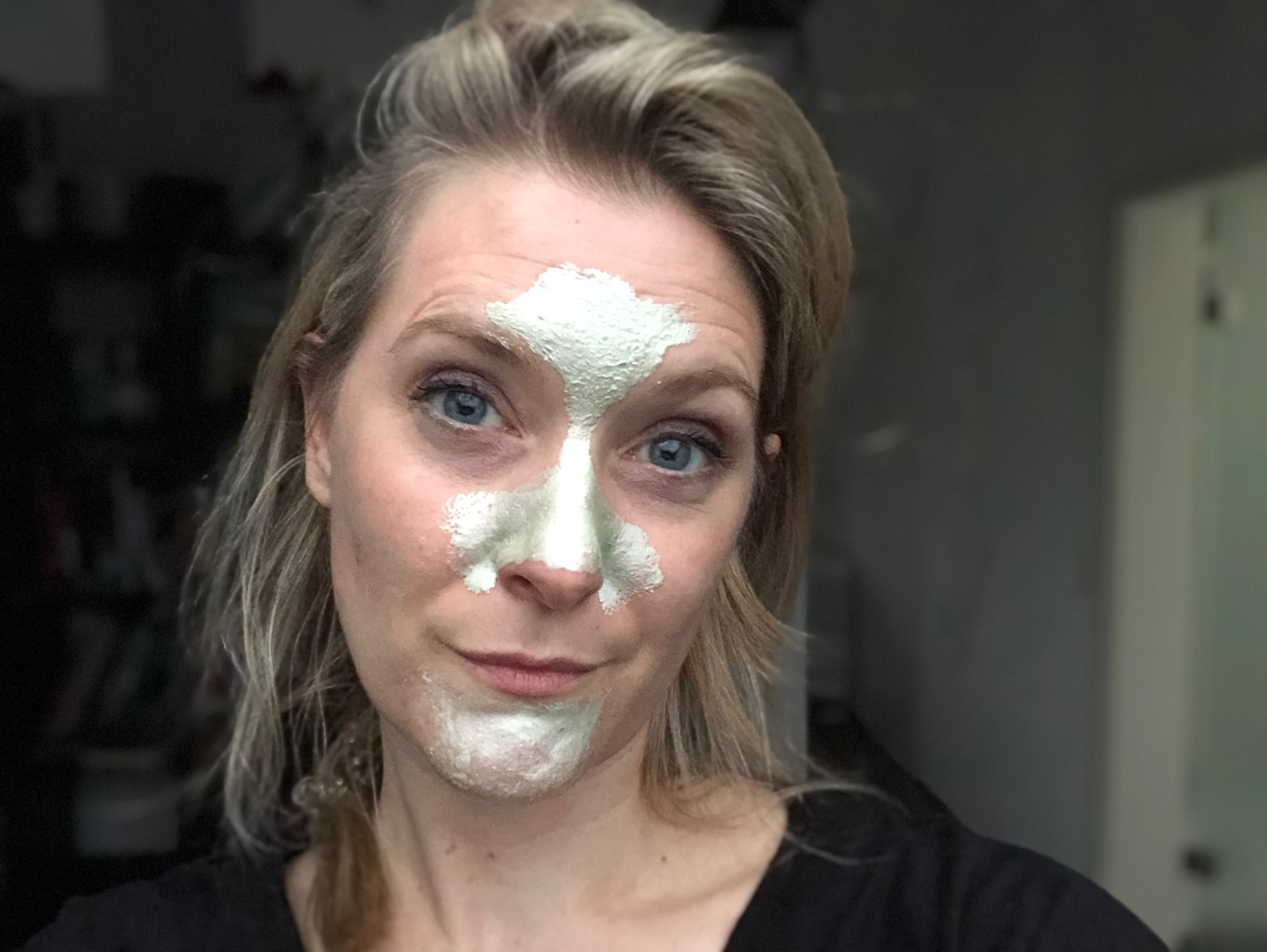 pixi T Zone Peel Off Mask on the face