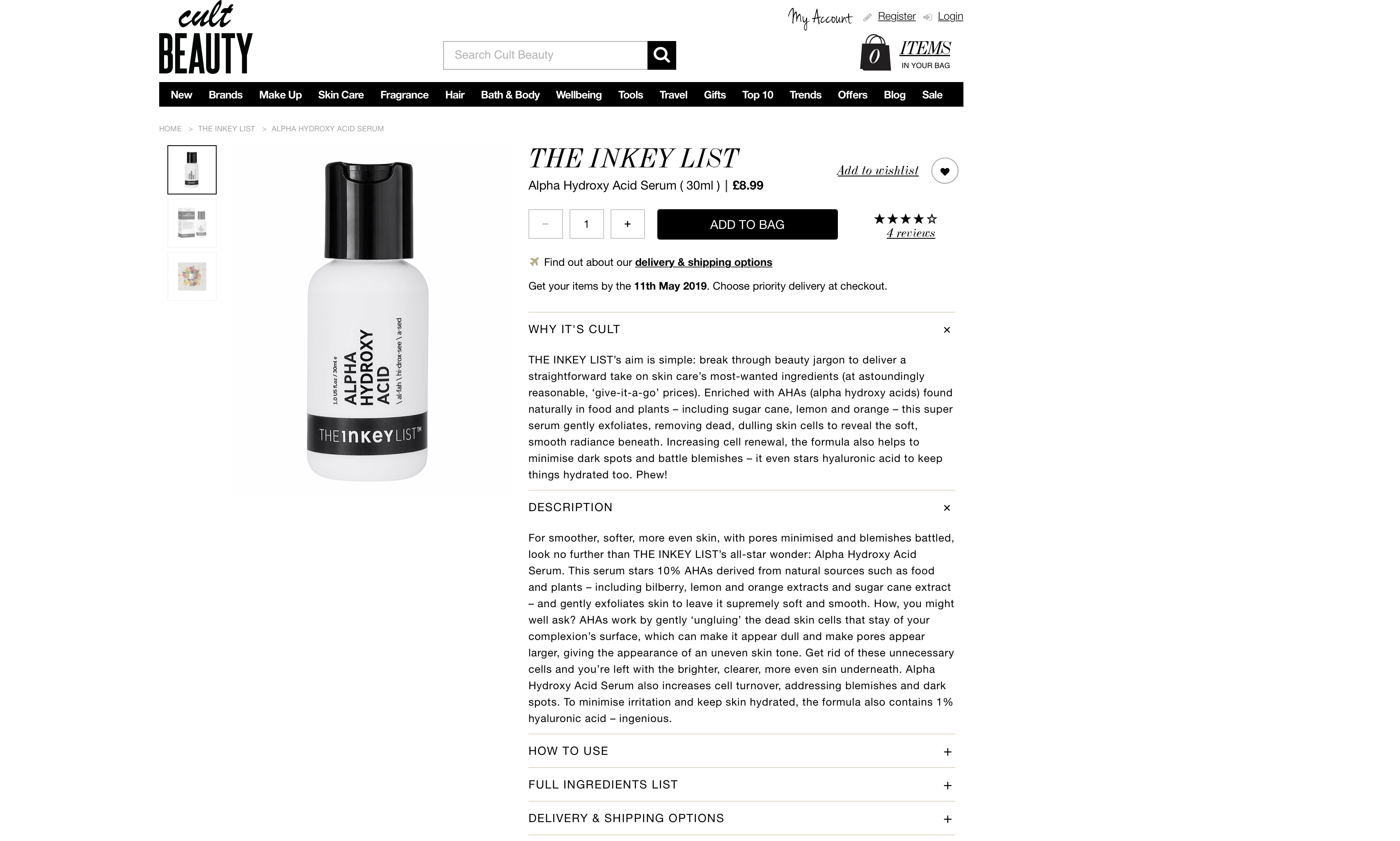 The Inkey List Alpha Hydroxy Acid Serum