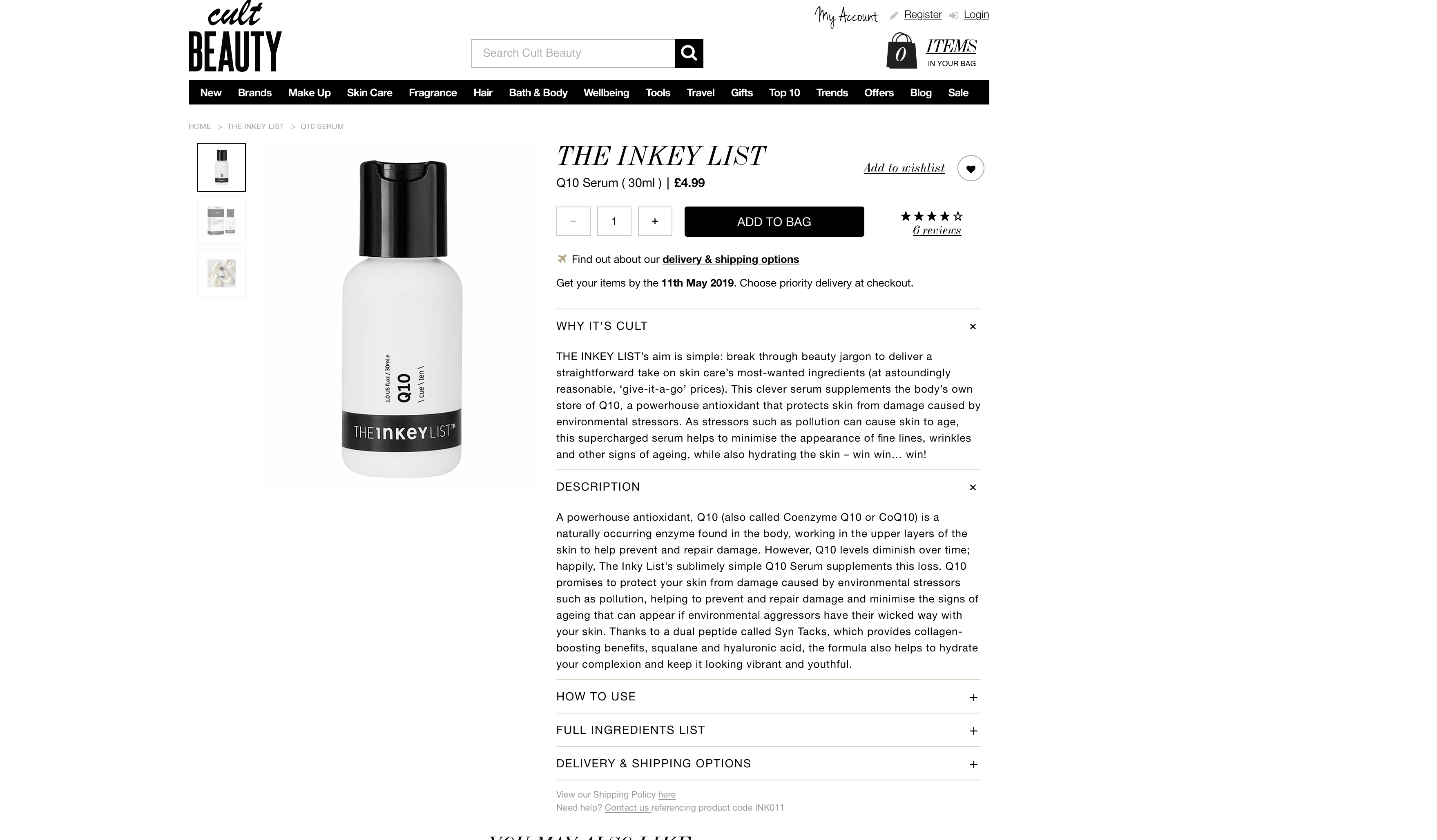 The Inkey List Q 10 Serum