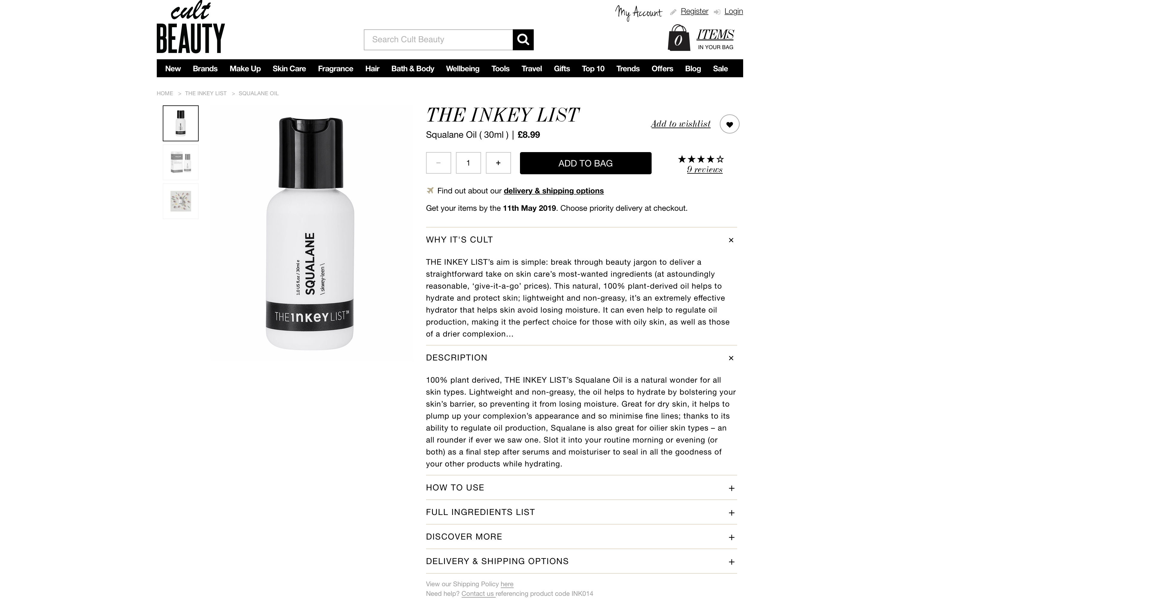 The Inkey List Squalane Oil