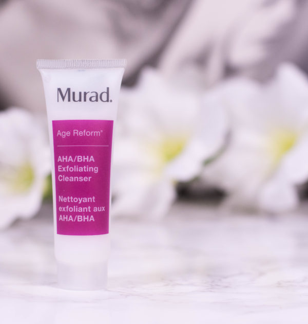 Murad AHA BHA Exfoliating Cleanser - travel size pictured