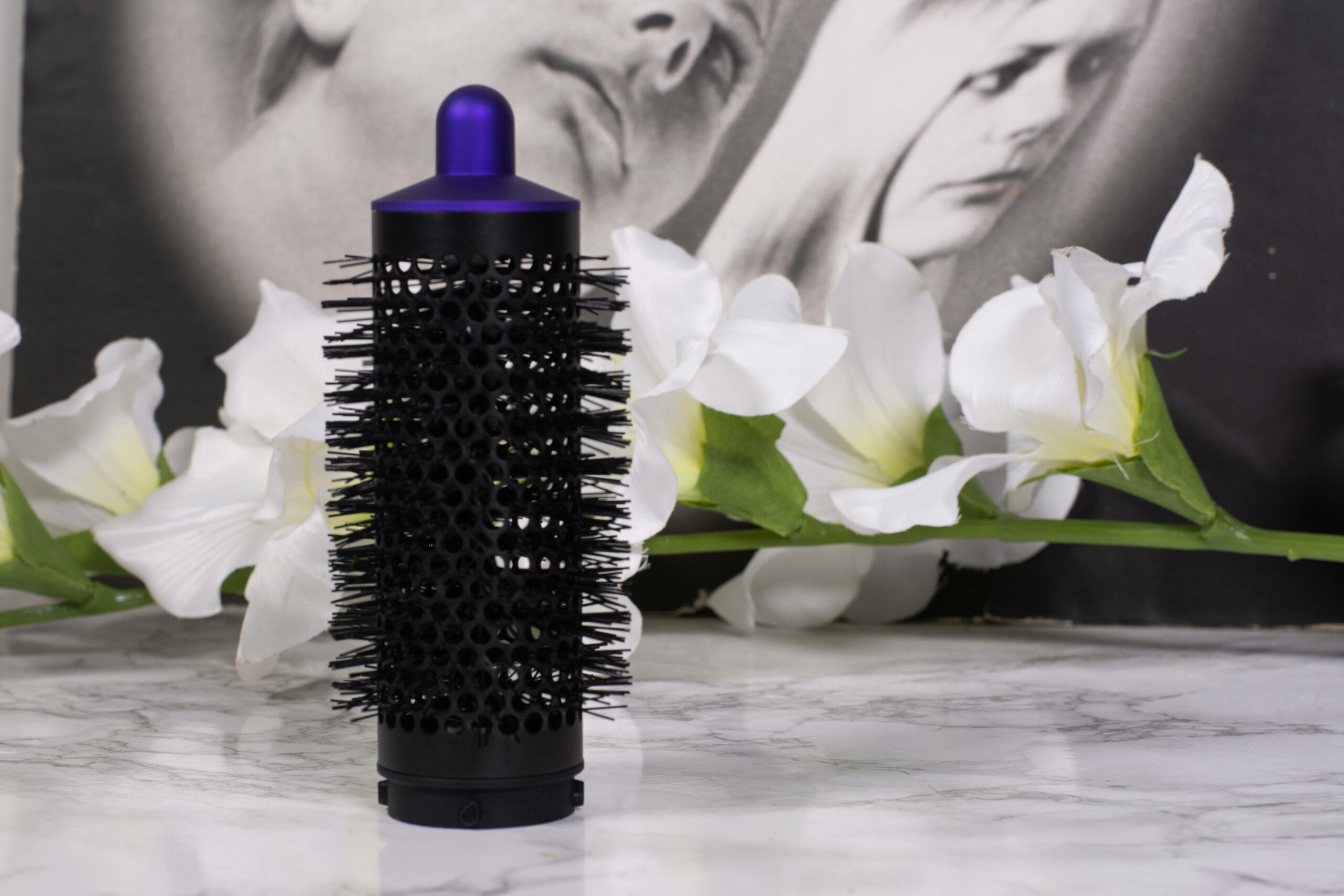 The round brush attachment of the Dyson AirWrap Hair Styler