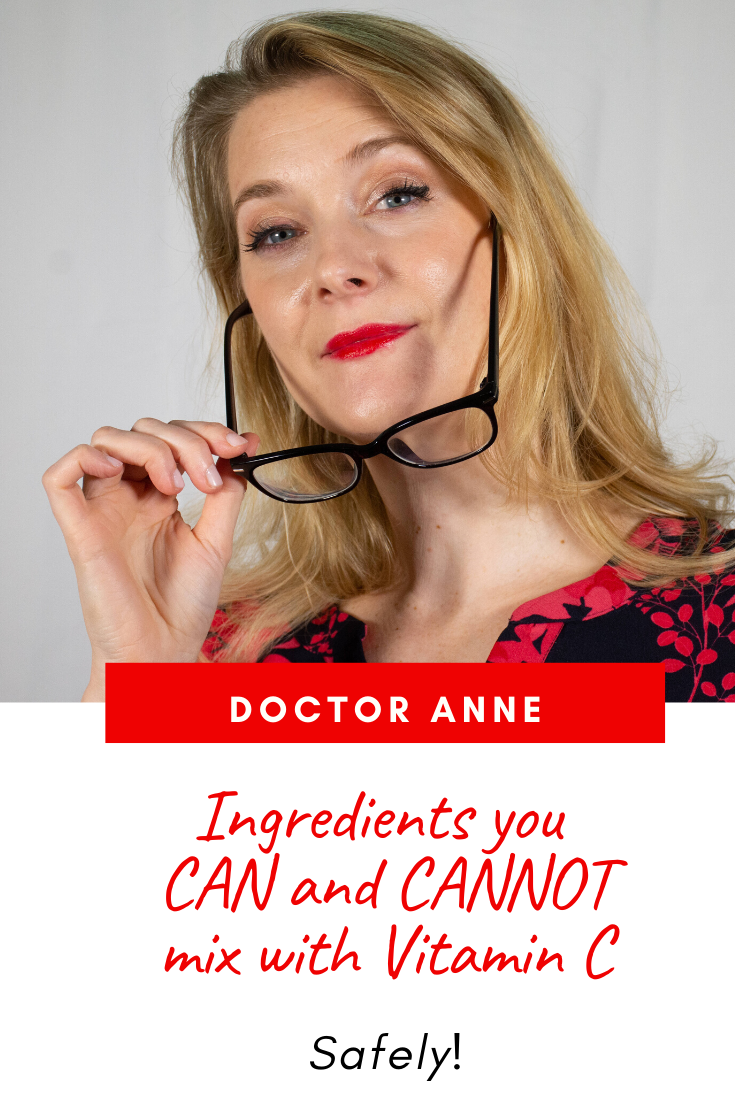 Is it safe to combine Vitamin C with Niacinamide, Retinol or Benzoyl Peroxide? Doctor Anne has the answer!