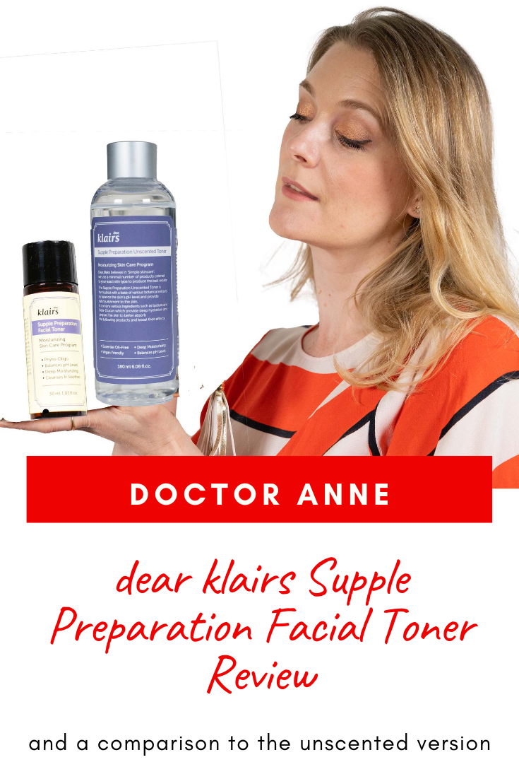 dear klairs Supple Preparation Facial Toner Review and comparison to the unscented version