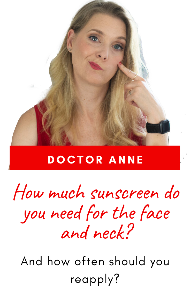 How much sunscreen do you really need for your face and neck?