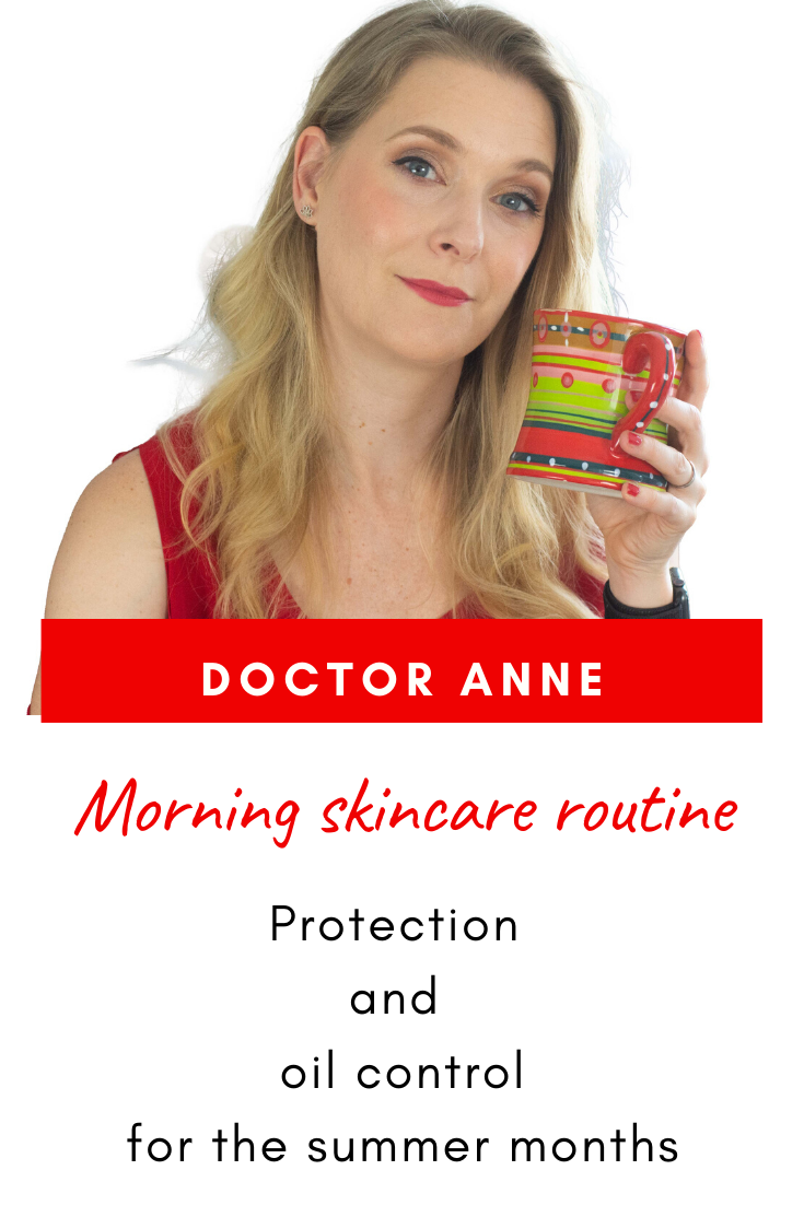 Simple summer morning skincare routine for protection and oil control